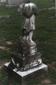 Headless Angel grave marker in Oakwood Cemetery, Raleigh, NC
