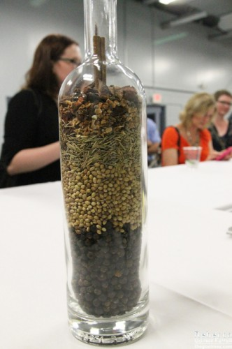 Breakdown of botanicals used in TOPO's gin.