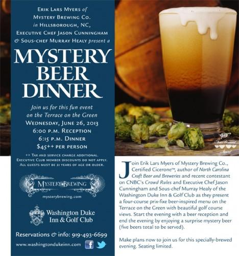 mystery beer dinner