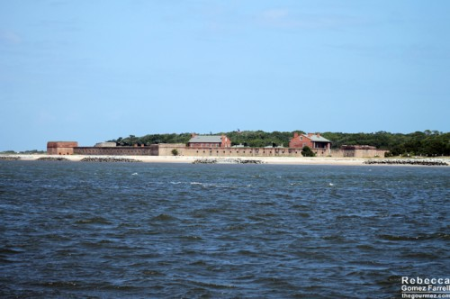 The whole of Fort Clinch on the return trip.