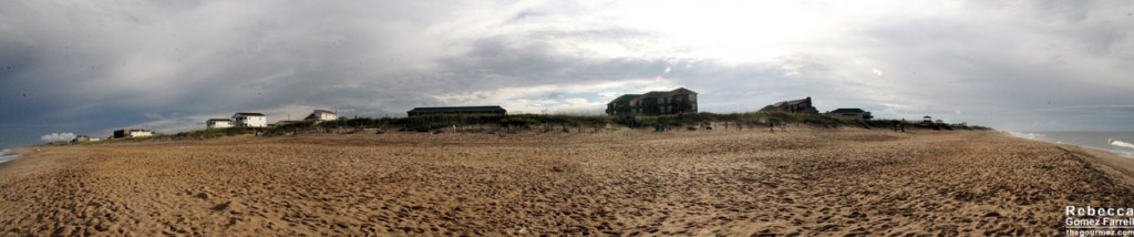 View of Kill Devil Hills from our hotel's beach. Click twice for the largest view.