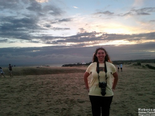 Me with the sunset to my back.