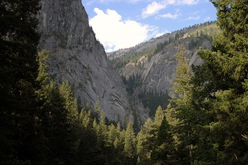 Yosemite canyon view