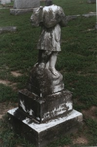 Headless Angel grave marker in Oakwood Cemetery, Raleigh, NC