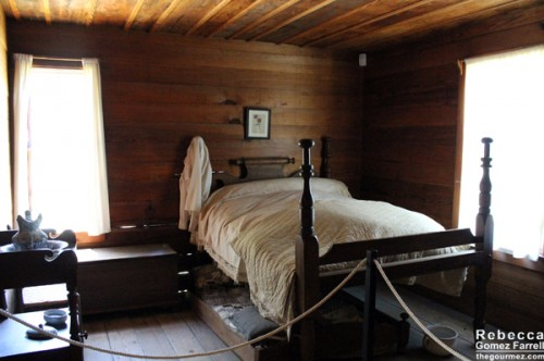 One of two bedrooms in the farmhouse.
