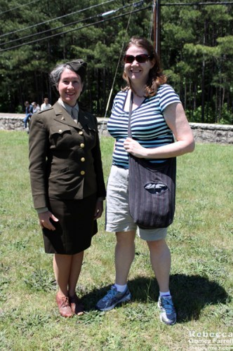 Ellen with a soldier from the Women's Corp in WWII.