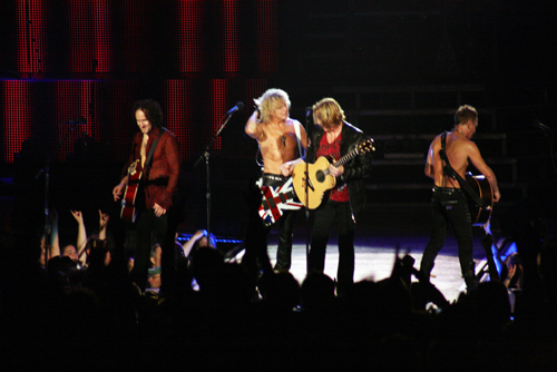 Def Leppard front and center...and shirtless.
