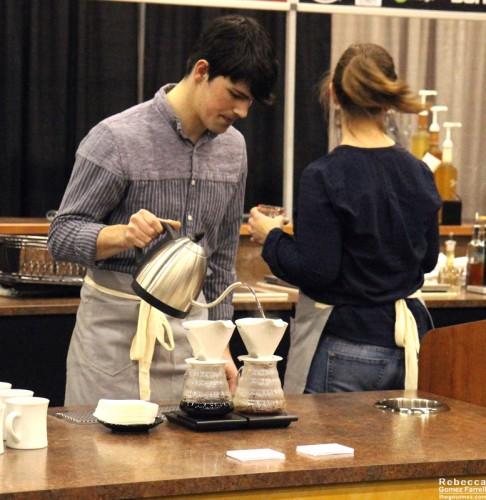 Peregrine Espresso's pourover set-up.