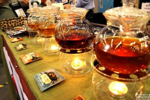 Numi's display of steeping teas.